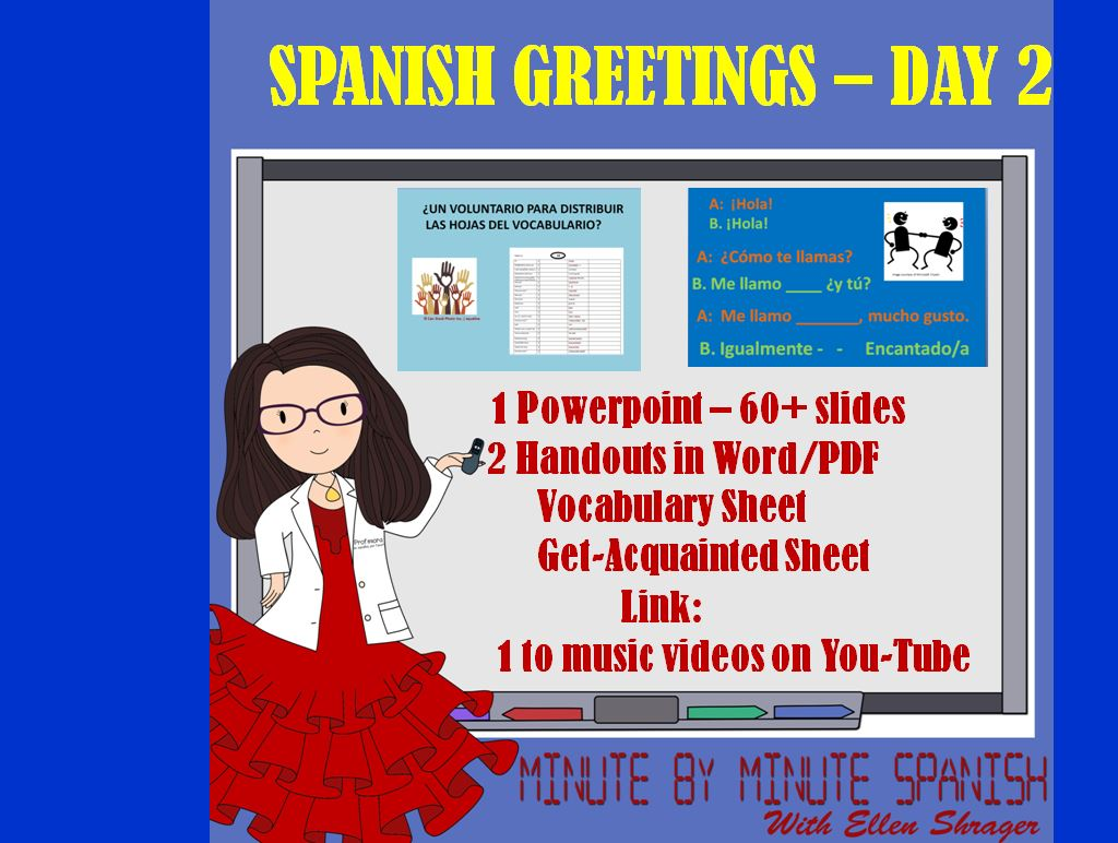 Spanish Greetings First Week Lessons