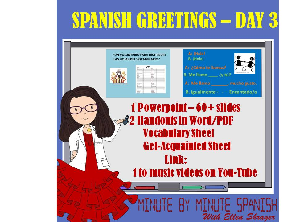 Spanish greetings first week lessons day three m4hsunfo
