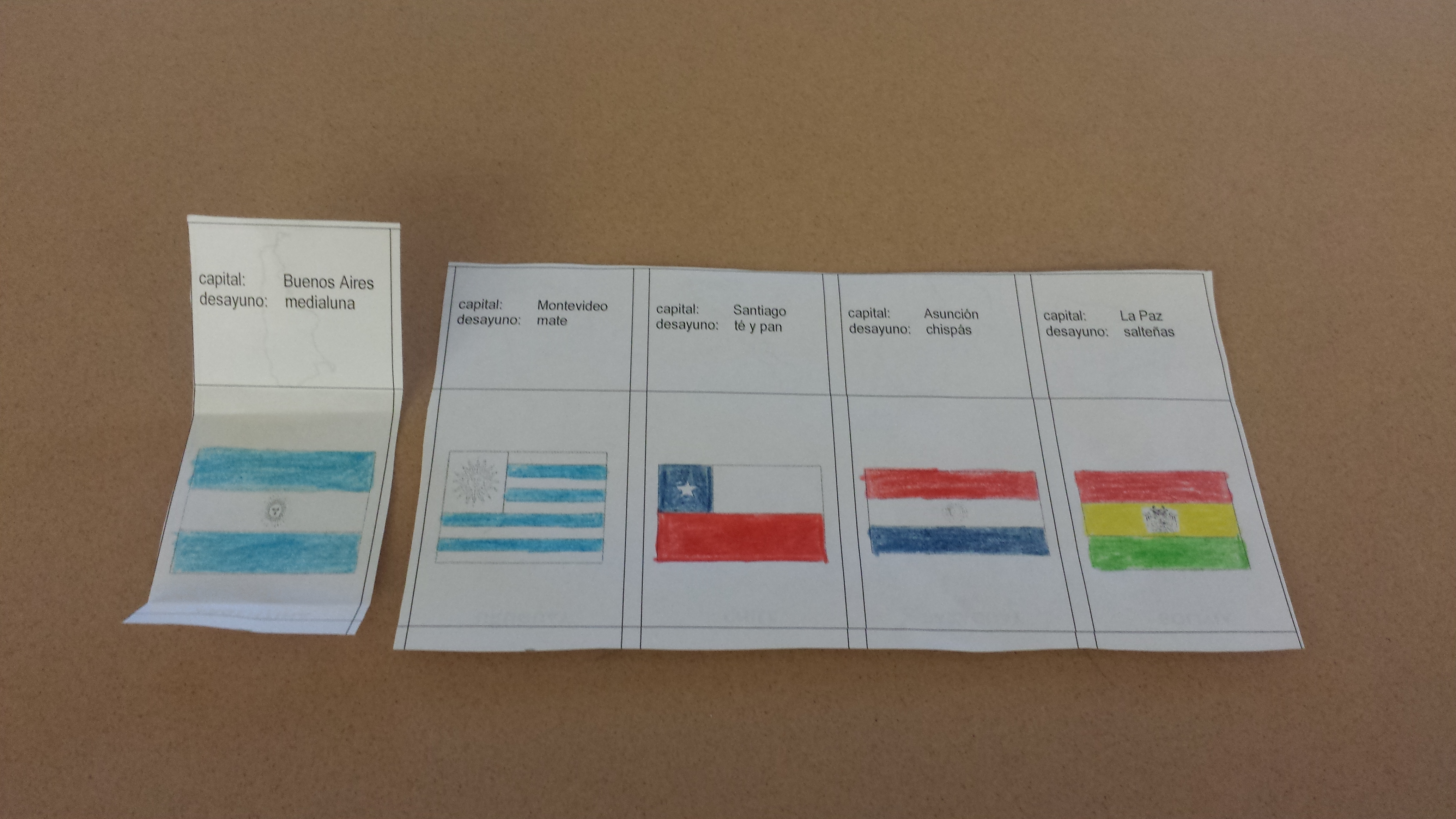 Using the slide with all of the flags stimulated the students to make comparisons of the flags.