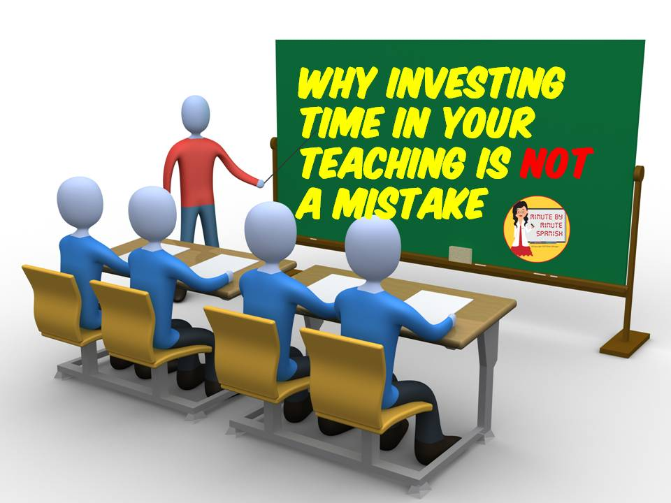 Investing Time in Your Lessons Keeps Students Engaged and Avoids Referrals, Talking to Parents, Relieves Stress and May Prevent Your Being Replaced With Distant Learning.