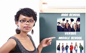 A veteran teacher discusses the pros and cons of teaching at high school versus middle school.