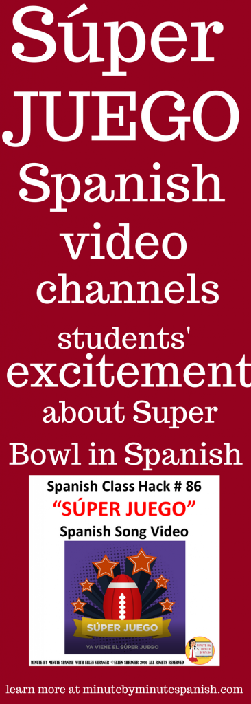 Stay on task and in the target language by using this Super Bowl Song.