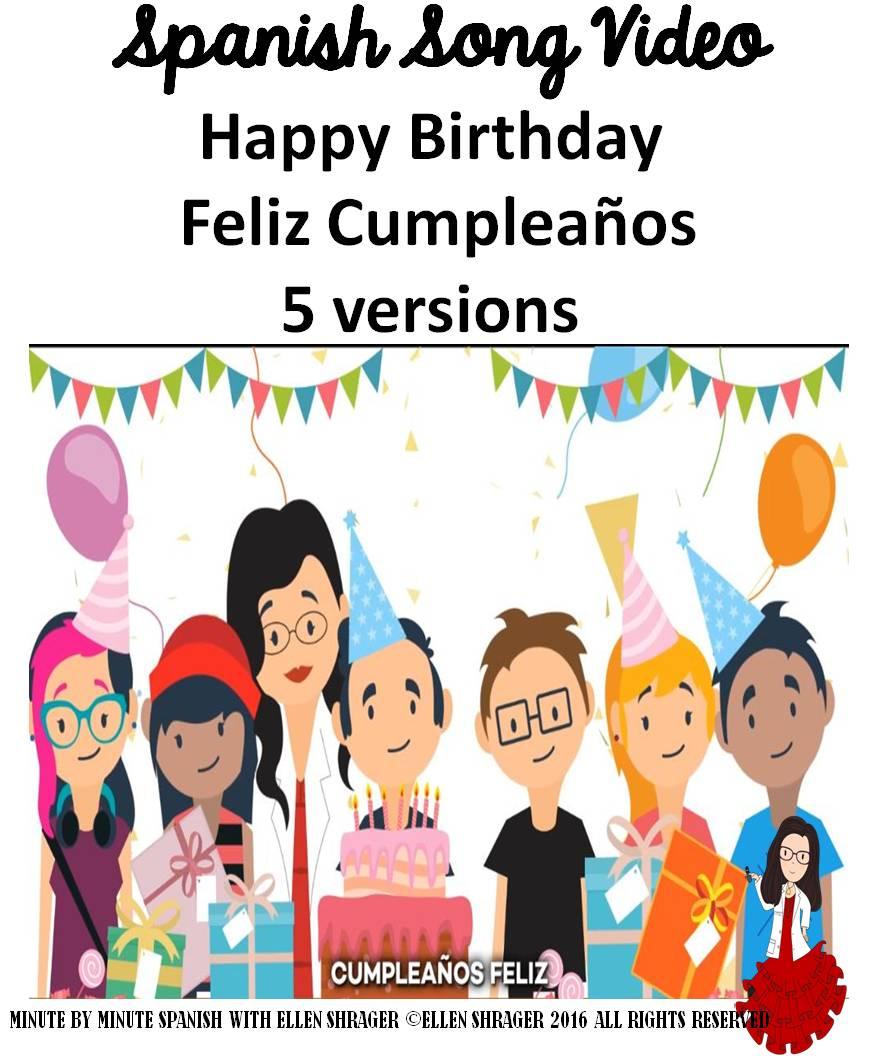Marvelous Spanish Birthday Song 5 Different Versions Cumpleanos Feliz Funny Birthday Cards Online Alyptdamsfinfo