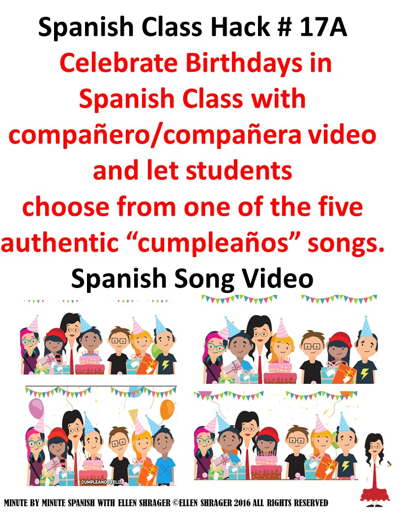 Spanish birthday song 5 different versions cumpleaos feliz click here to purchase from tpt all proceeds go to some very desperate venezuelans who make the songs and videos m4hsunfo