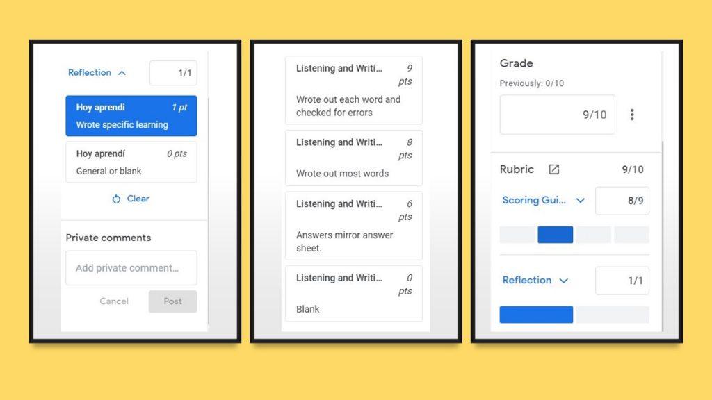 Fast Google Classroom Grading